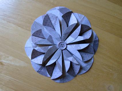 Flor de papel scrap