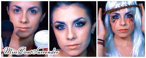 maquillaje vampira de victoria frances collage