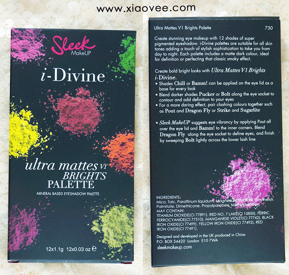 Sleek i-Divine Ultra Mattes V1 Brights Palette review