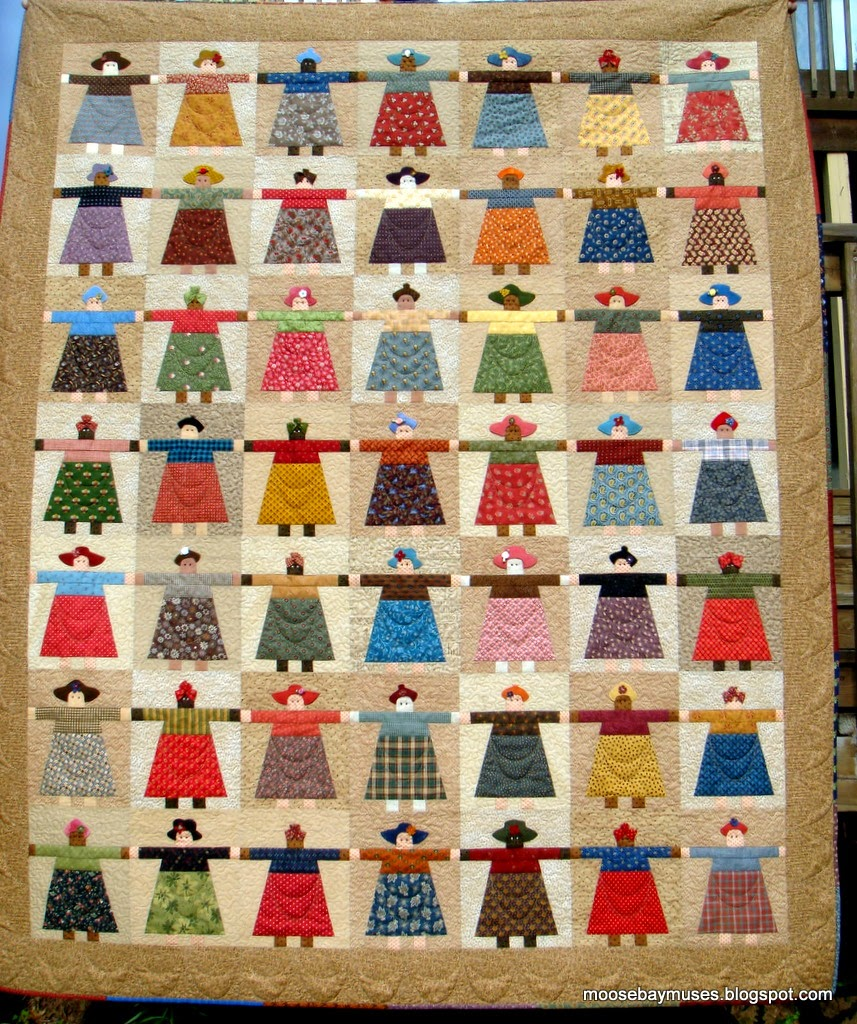 Moose Bay Muses: Paper Doll Quilt? Finished!! : quilting with paper - Adamdwight.com