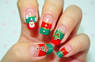Decoración de Uñas, Navidad