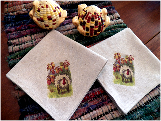Art threads wednesday sewing thanksgiving napkins for Turkey napkins