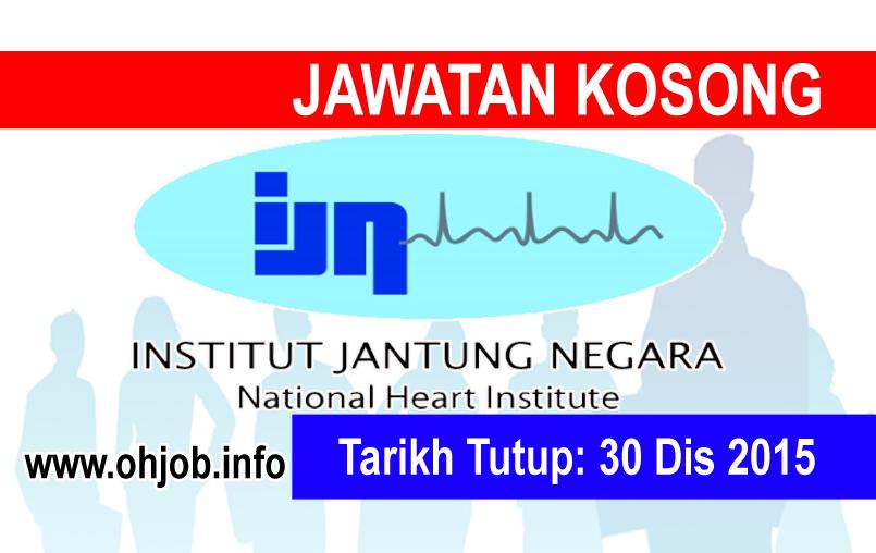 Jawatan Kerja Kosong Institut Jantung Negara (IJN) logo www.ohjob.info disember 2015
