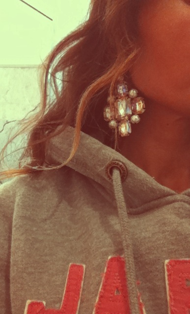 HM earrings, superdry