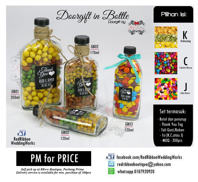 Doorgift hipster botol kacang tali guni rrww your for Idea door gift kahwin bajet