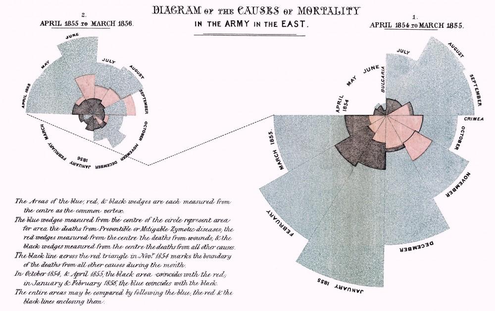 Infografía sanadora: El diagrama de la rosa de Nightingale. | Victor ...