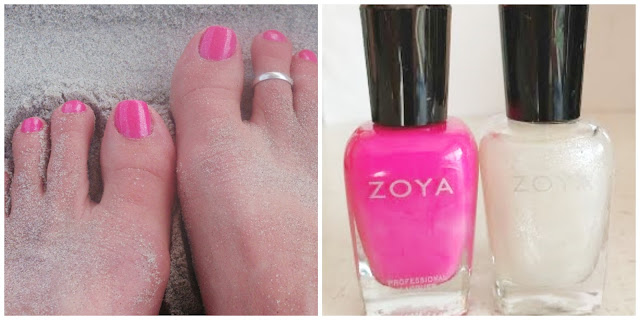 zoya bright pink nail polish