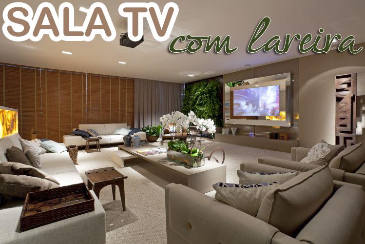 20 Salas de tv com lareira – tendência do momento! Veja modelos e