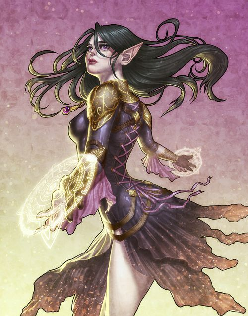 Katie de Souza ilustrações fantasia games mulheres Mishalla
