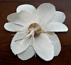 organic style fabric flowers