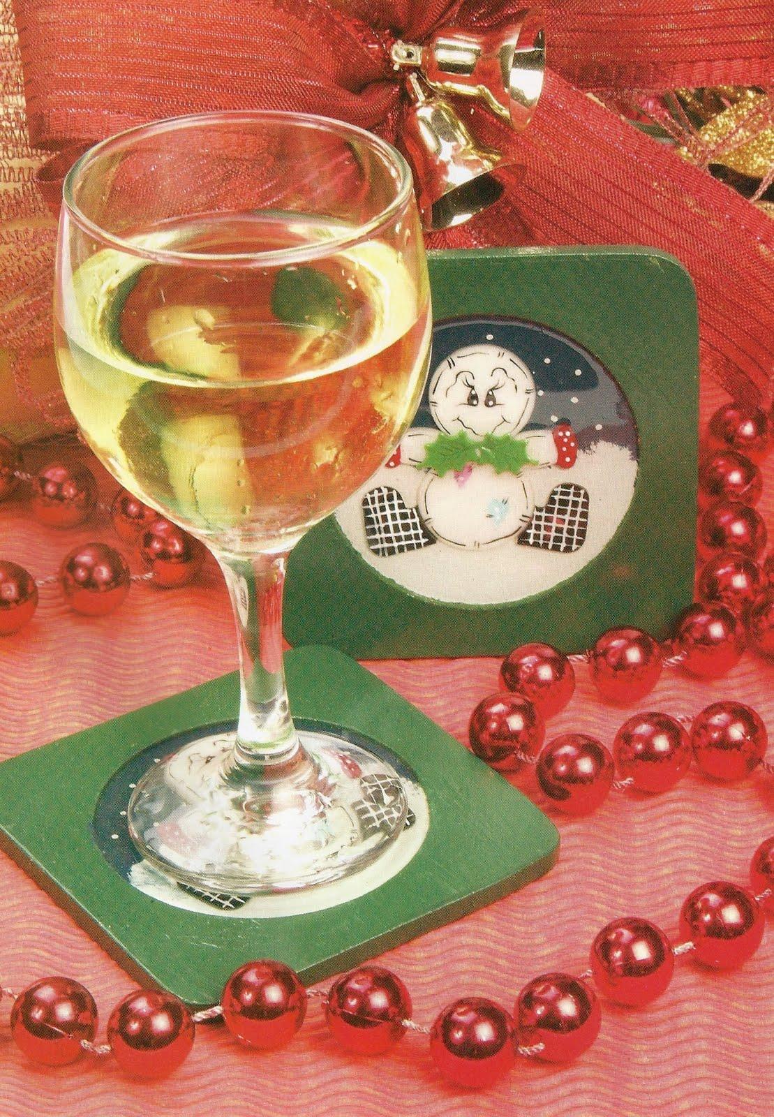 Detodomanualidades como hacer posavasos navide os - Como hacer posavasos ...