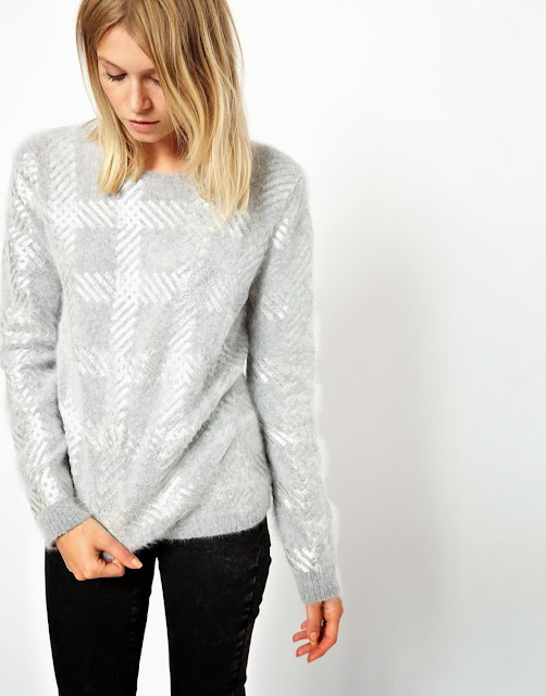 grey angora jumper