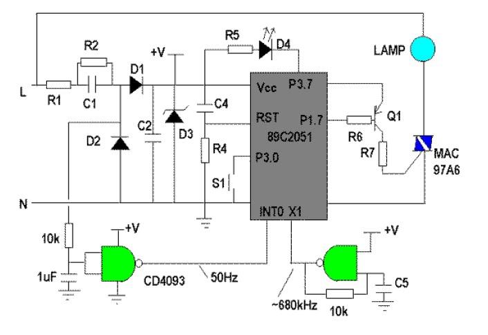 loadedcircuit com  night light saver circuit using at89c2051