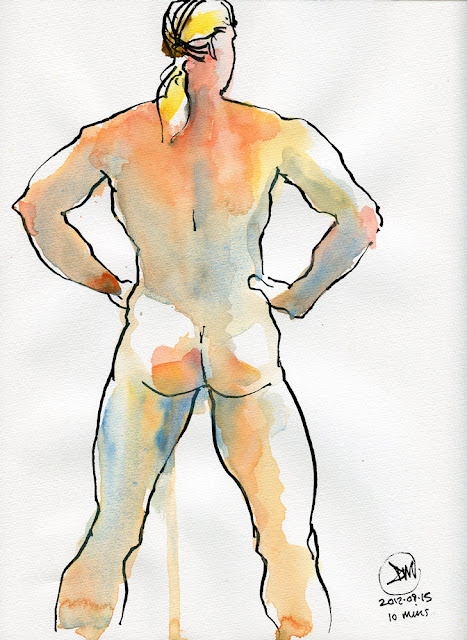 A sketch of a body builder by David Meldrum