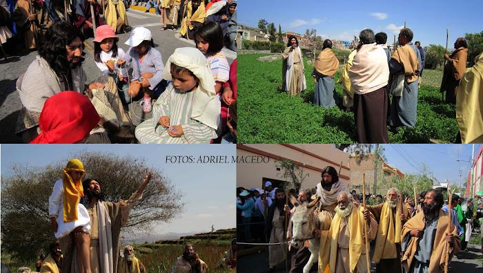 Escenificación del Via Crucis en Paucarpata  Arequipa