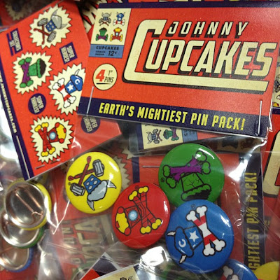 Johnny Cupcakes The Avengers Crossbones Pin Set