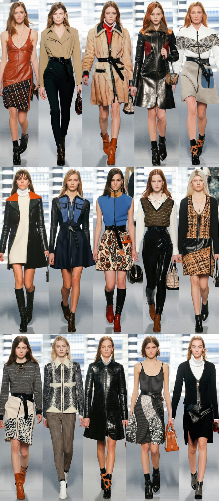 Louis Vuitton fall winter 2014 runway collection, PFW, Paris fashion week, FW14, AW14, Nicolas Ghesquière