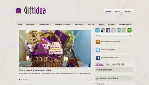 GiftIdea - Free Blogger Template