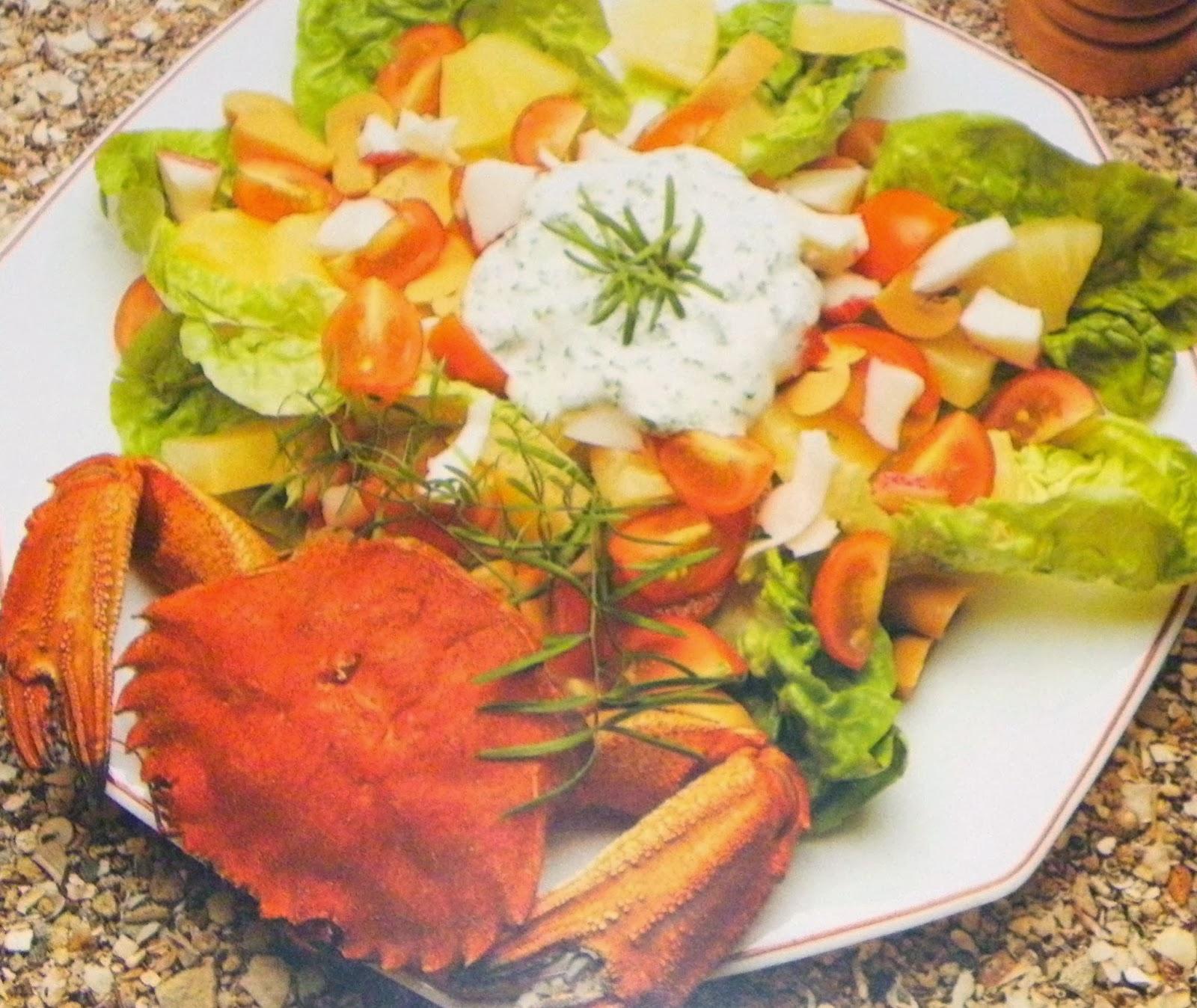 la cuisine m diterran enne salade de crabe la sauce d 39 aneth. Black Bedroom Furniture Sets. Home Design Ideas