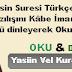 yasin suresi türkçe