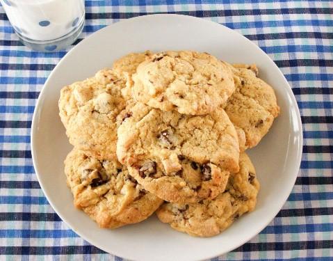 Vegan White and Dark Double Chocolate Chip Cookies