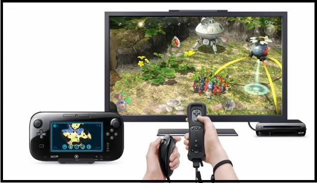 Pikmin 3 with map displayed on Wii U GamePad