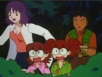 Brock con la profesora Ivy