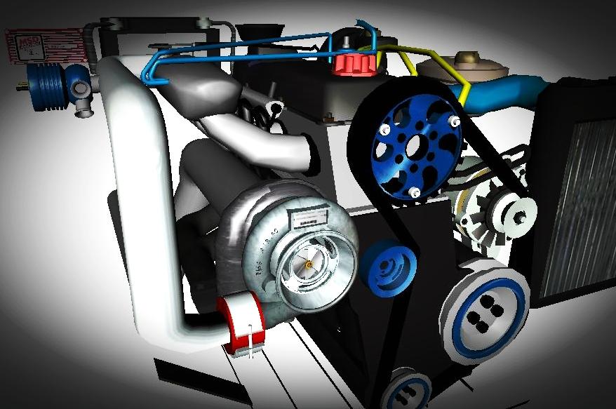 Motor Ap Turbo F 225 Bin 3d Equipe Gta D Luxo