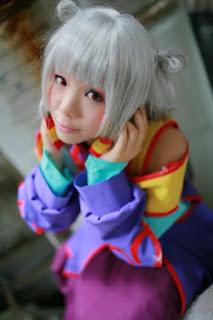 Kousaka Yun cosplay as 蒋麗華 from Code Geass