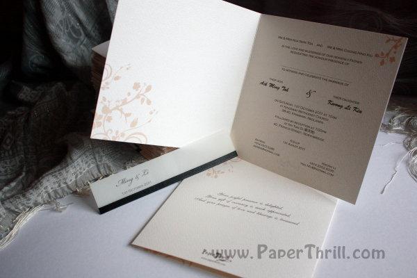 Textured flower wedding card CWD013 Size 15cm x 15cm