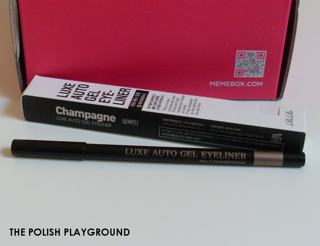 Memebox Special #17 K-Style Cosmetics Unboxing - RiRe Luxe Auto Gel Eyeliner in Champagne
