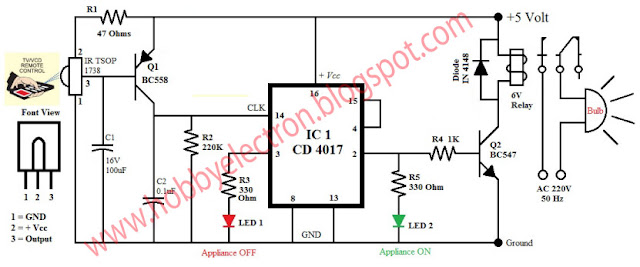 wiring diagram for 3 way switch ir remote control home appliance rh 3wayss blogspot com rf remote control circuit diagram wii remote circuit diagram