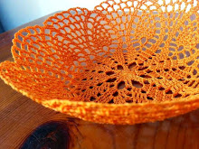Cesta a crochet endurecido