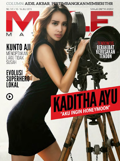 Actress @ Kaditha Ayu - Male Indonesia, July 2015