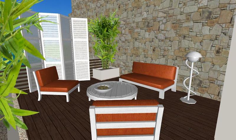 muebles y decoracion terrazas - bambu, biombo blanco
