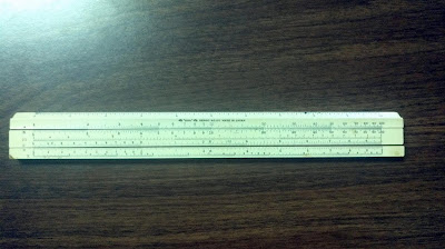 How to use a sliderule, log scale