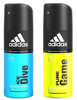 Buy Adidas Spray Pack Of Two Assorted Fragrance at Flat 50 % Cashback:buytoearn