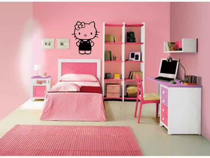 Desain kamar interior anak hello kitty