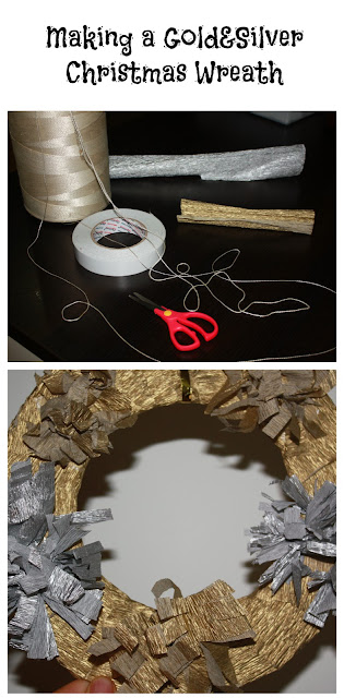 Gold & Silver Christmas Wreath #Craft