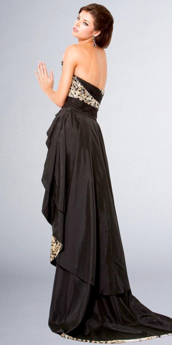 Stylish Elegant Dress With Tiger Tail