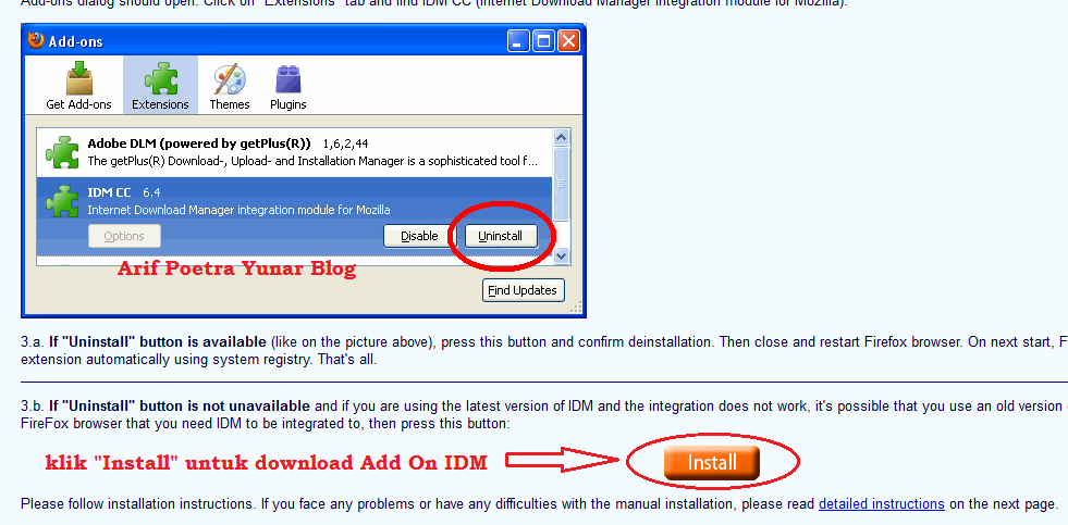 Download Add On IDM
