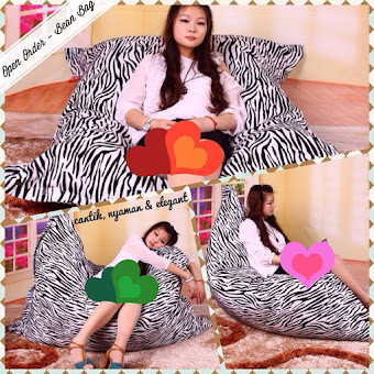 OPEN PO BEAN BAG ZEBRA