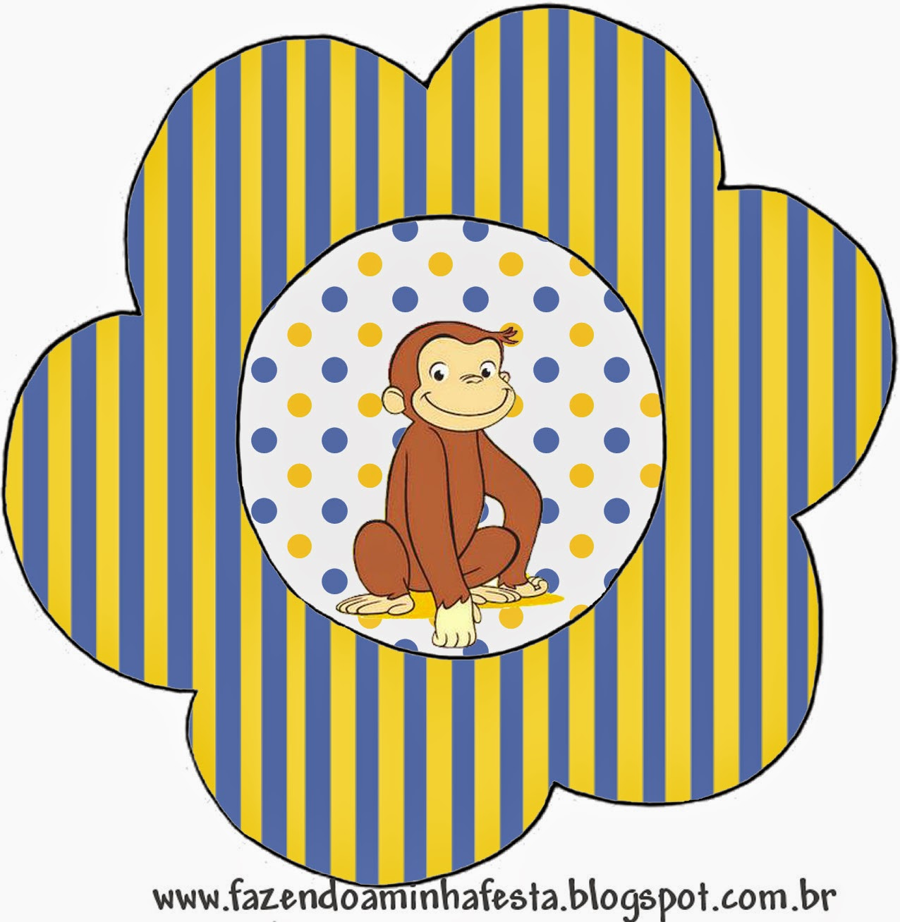 Curious George: Free Printable Invitations. | Oh My Fiesta ...