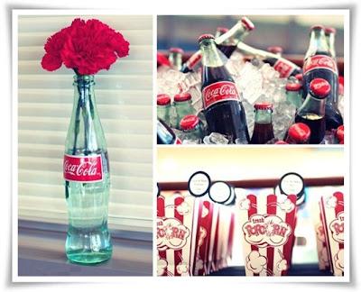 coca-cola flaska orginal, flaska som blomvas, flaska med blommor