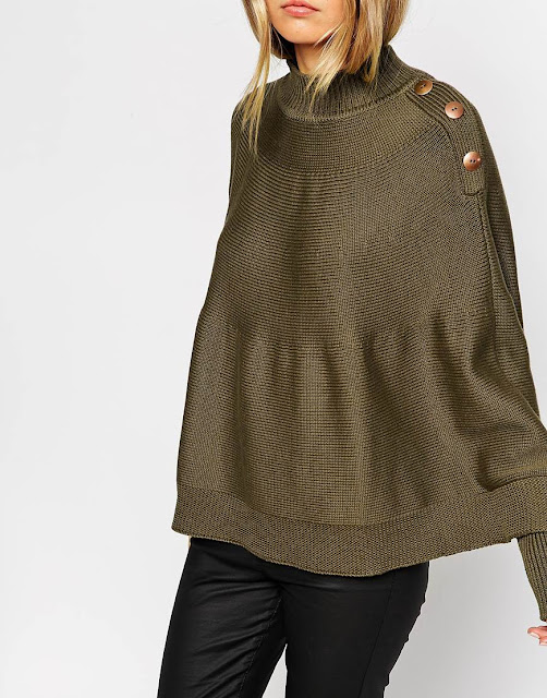 khaki cape jumper