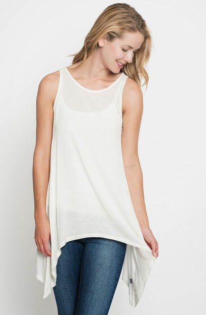 Buy online cheap Draped tank top for women on sale at caralase.com