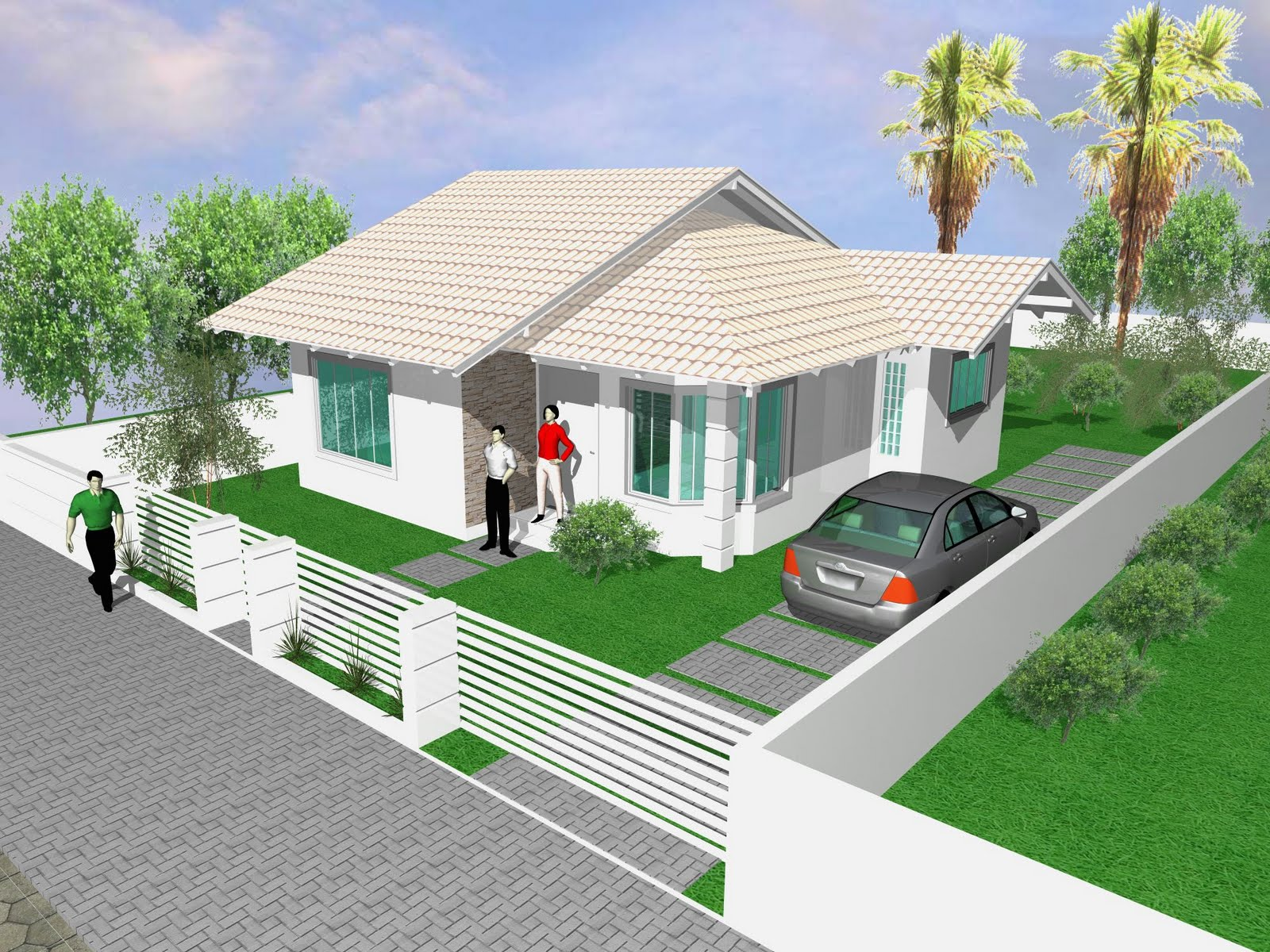 Meu Projeto Pronto: Casa 70 00m² #385893 1600 1200
