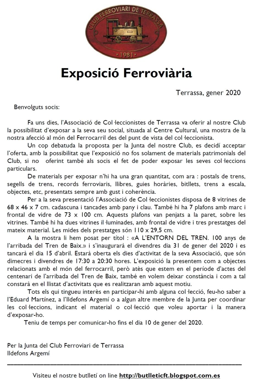 Exposició ferroviària - Informació