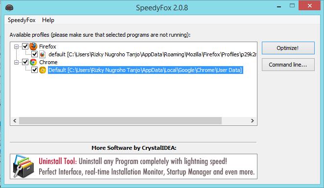 SpeedyFox 2.0.8 Build 70 Terbaru