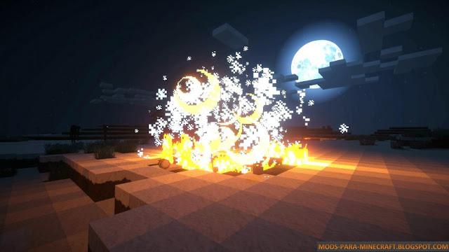 Explosión producida por un grito de Dragón - Dragon Shouts 1.7.10